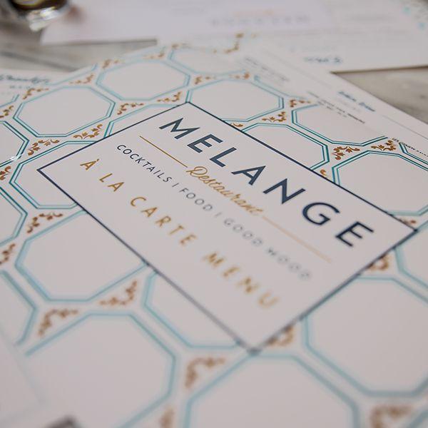 Melange Restaurant Menu